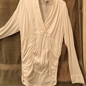Off white new long sleeve blouse cabi lg